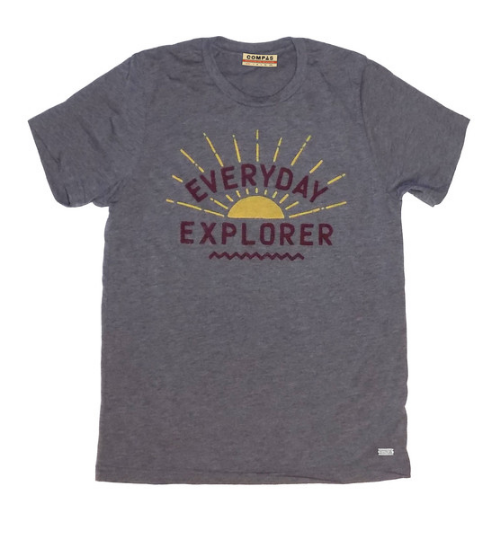 Compass Ultrasoft Varsity Heather tri-blend   Everyday Explorer Tee