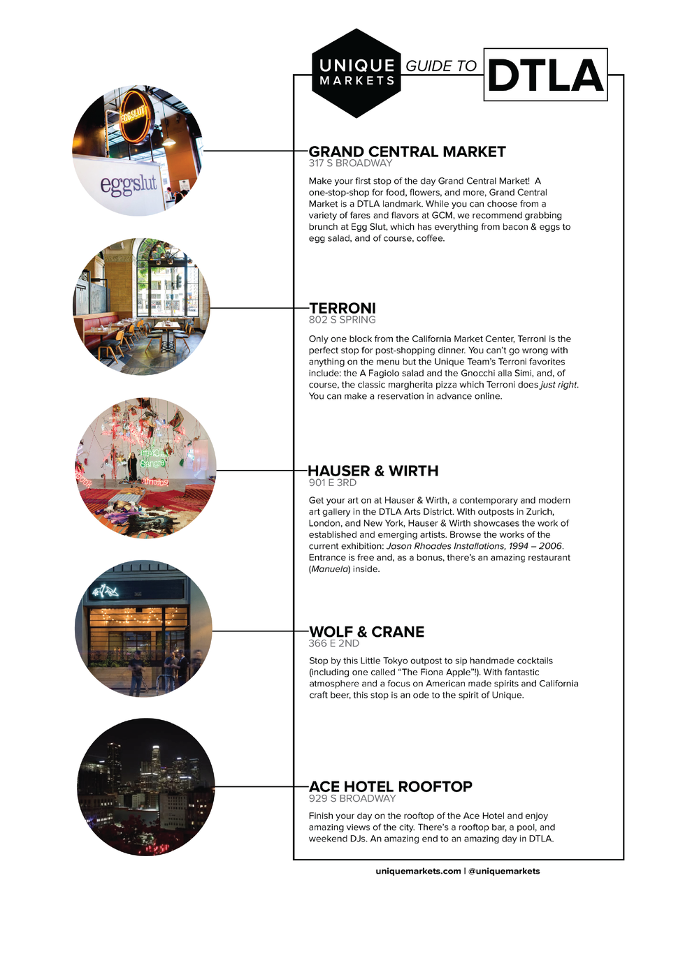 Unique\'s Spring 2017 Guide to DTLA — Unique Markets