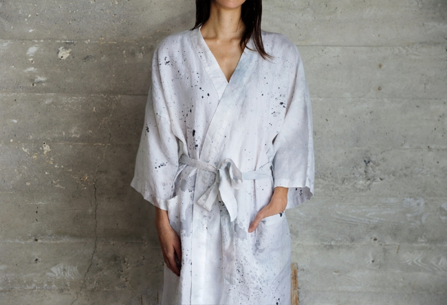 "8. A robe is a gift that truly keeps on giving. Our pick is this 100% linen robe in ""Chaos Theory"" from Fussy Hussey - one of our Unique LA vendors!"