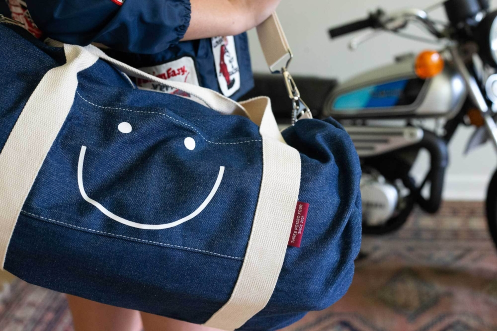 Three_Potato_Four_Classic_Denim_Duffle_Duffel_Bag_Smiley_Face__Life_3.jpg