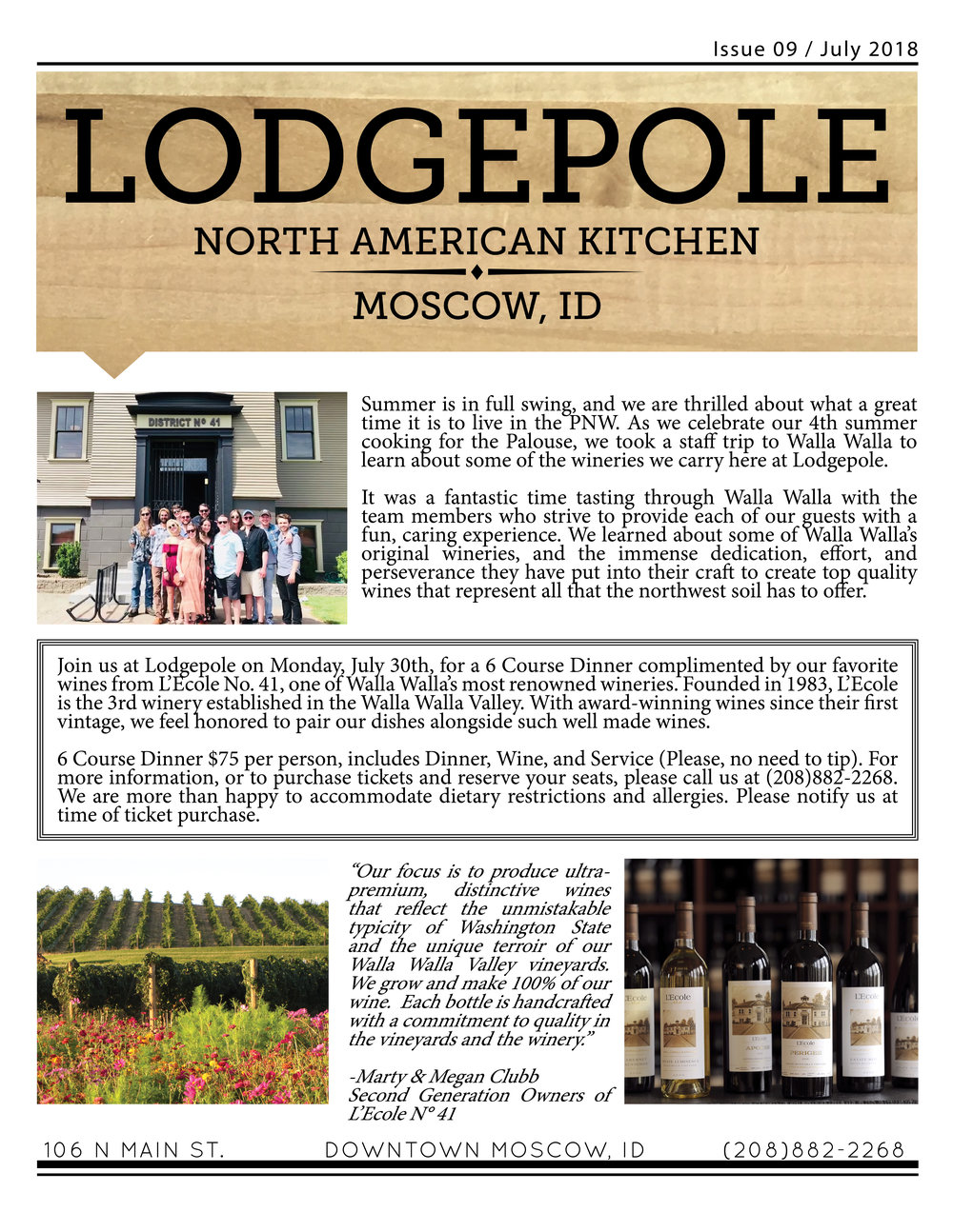 Lodgepole Newsletter July 2018