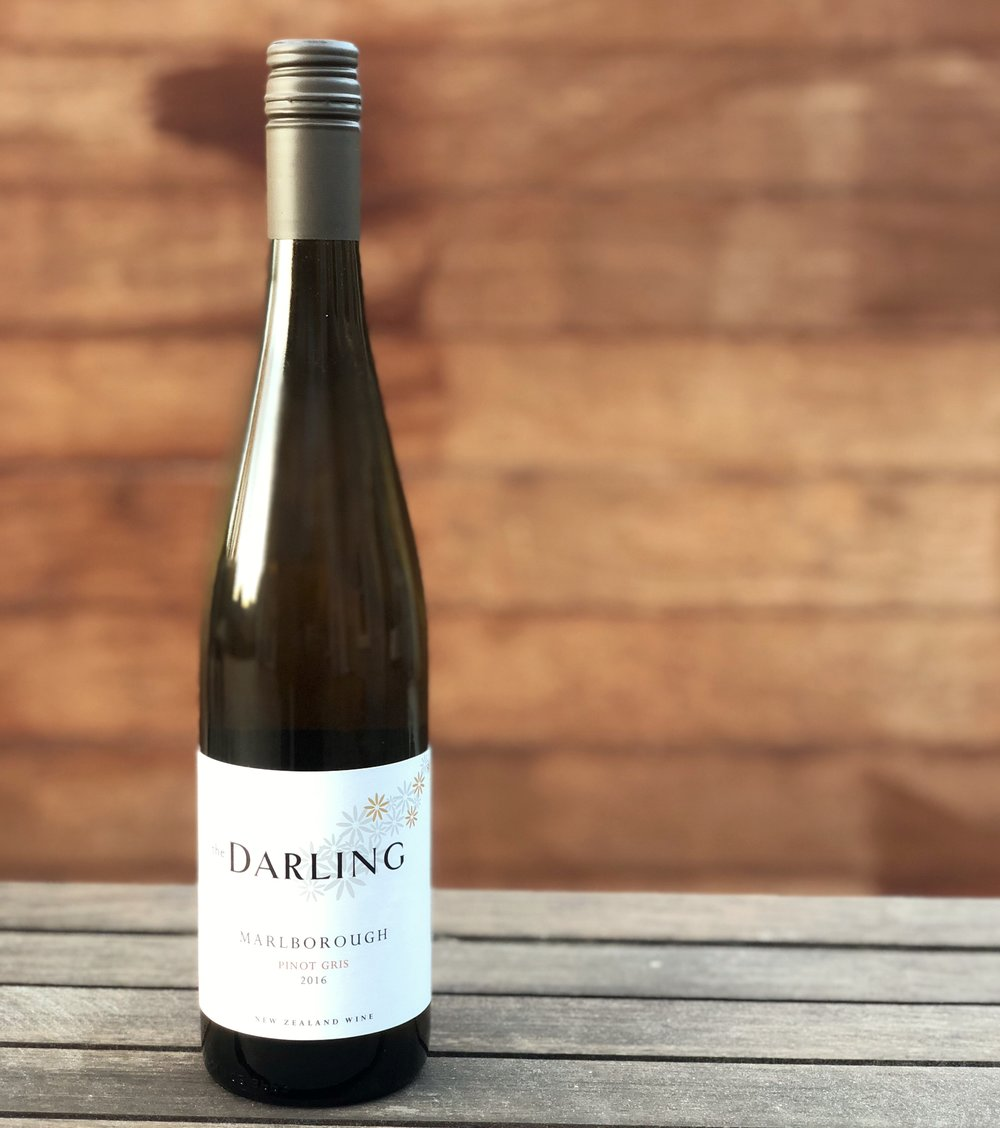 The Darling Pinot Gris - With a nose of pear and spice our Pinot Gris has elegance and freshness. A dry style that has great texture and length on the palate. Suitable on any occasion. Current Tasting Note