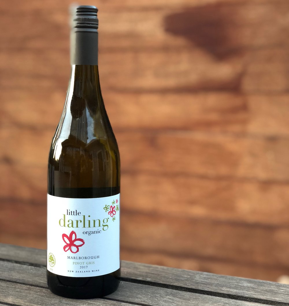 Little Darling Pinot Gris - It has aromas of citrus and pear showing through on the nose. It has great drinkability due to the freshness on the palate. The pear and citrus notes continue on in the mouth, while being luscious it adds great length of flavour. Current Tasting Note