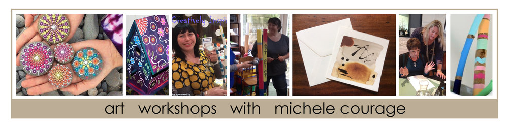 Art workshops with abstract artist Michele Courage
