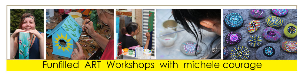 Funfilled art workshops with artist Michele Courage