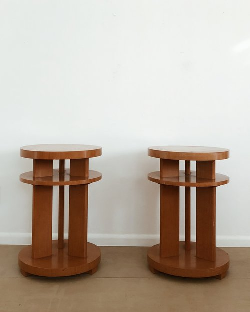 Art Deco Side Table Counter Space
