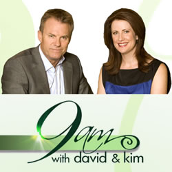 Hosted by Kim Watkins and David Reyne, 9am is a morning program which features a mix of interviews and advertorial presentations as well as cooking and lifestyle segments.