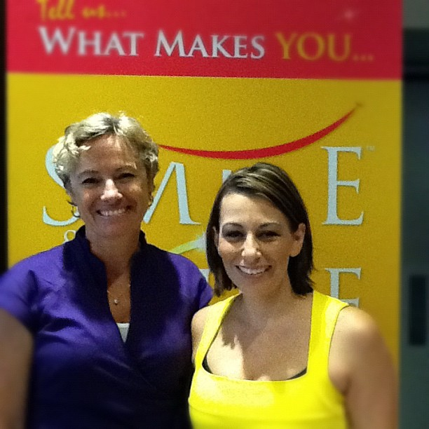 Photo: Cyndi O'Meara - Healthy Habits & Heather James Inspiring Mums® at Peninsula Health & Wellbeing Expo