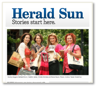 "Herald Sun Feature: KidsBusiness ""Bloggers Brunch"" Mums In The Media"