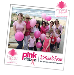Pink RIbbon Breakfast Fundraiser $150 Raised For Breast Cancer Research
