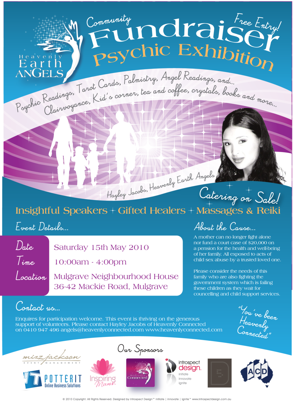 Heavenly Earth Angels Fundraiser - Guest Speaker & Sponsor - Raised $2000 for a struggling single mother