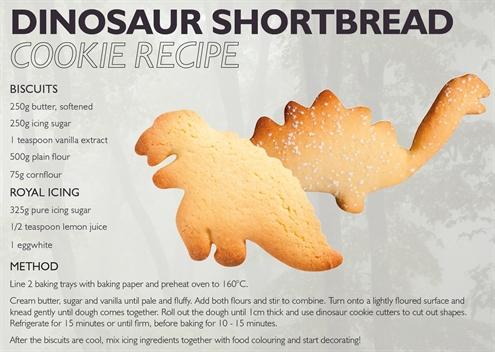 Dinosaur Shortbread Cookie Recipe