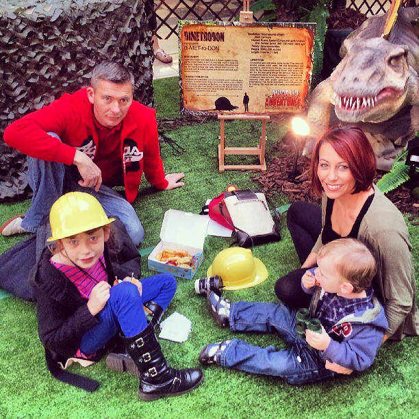 Our Inspiring Mums® Family at The Dinosaur Adventures 2013 at Eastland Shopping Centre having lunch!