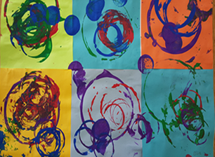 Kandinsky inspired toddler circles
