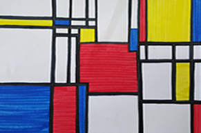 Mondrian inspired using markers