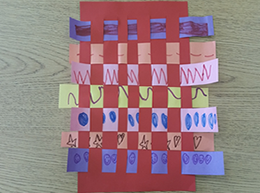 Preschool paper weaving