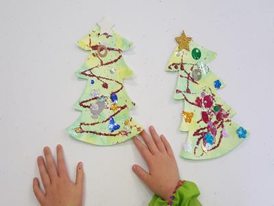 Christmas tree decorating - toddlers