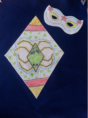 Kindergarten decorated superhero cape