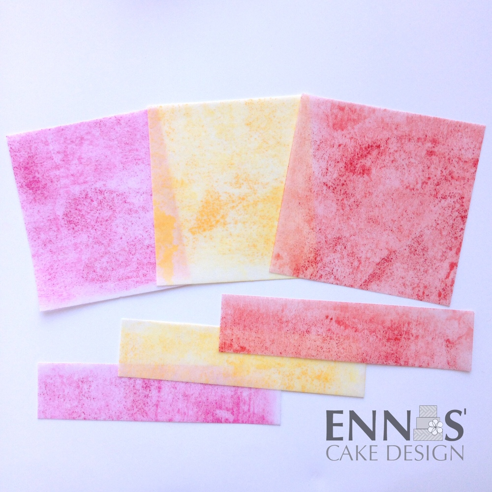 New Way To Color Wafer Paper Ennas Cake Design
