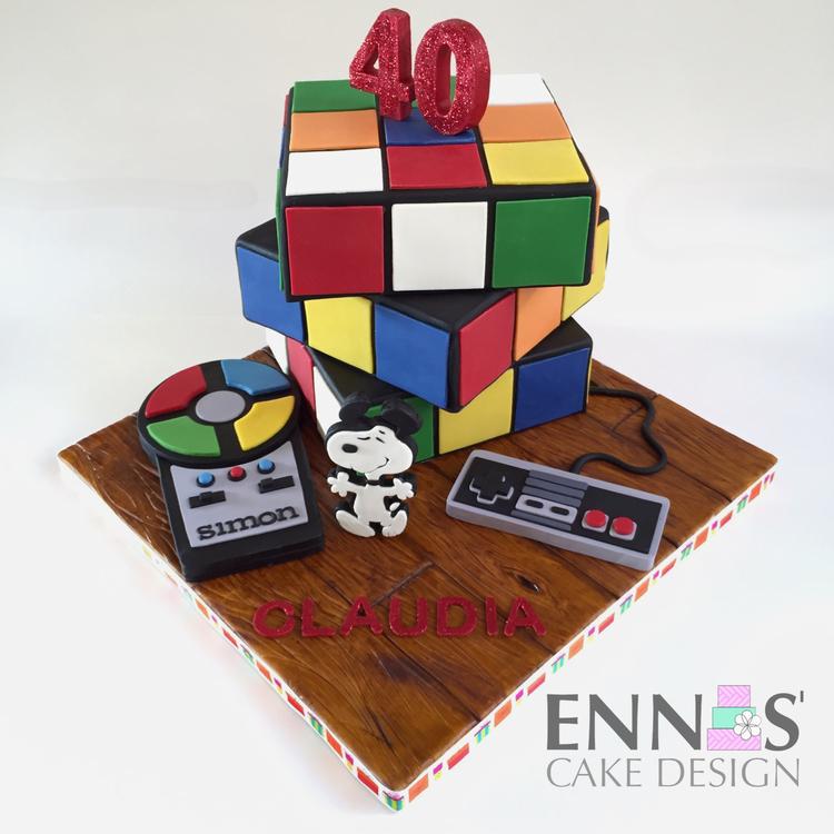 moving rubik s cube cake ennas cake design