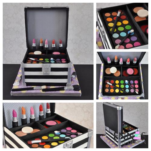 Makeup Case Cake Pdf Tutorial Ennas Cake Design
