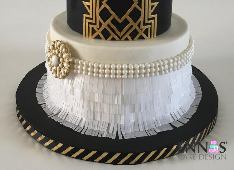 Great Gatsby Cake Video Tutorial Ennas Cake Design