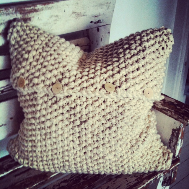 MM- 22:10 completed handspun cushion