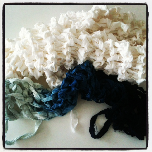 MM 8:10 - linen scarf with shibori