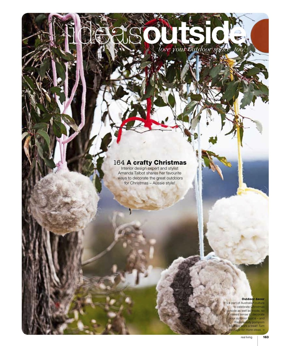 Little Dandelion pom pom in Real Living Magazine Christmas 2012 page 164