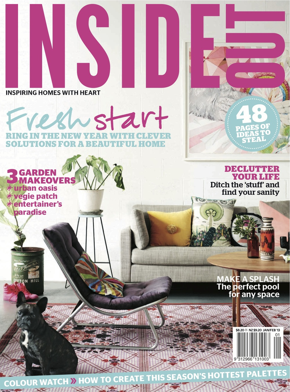 Inside Out Magazine cover January Issue