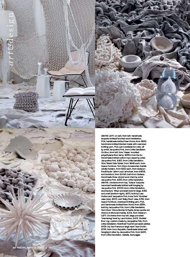 Vogue Living - June 2014 - Sea Art  Exhibition