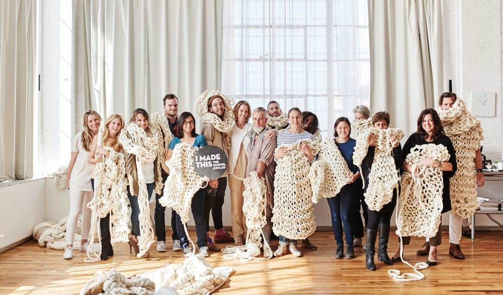 Want to learn how to do   extreme knitting?    Book a workshop