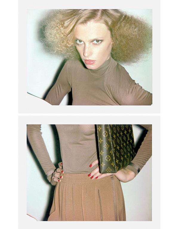 """Polaroids""   Self Service Magazine No. 34 circa 2011 = Sigrid Agren + Didier Malige + Lucia Pica + Sabrina Marshall + Ezra Petronio   Frocks = Chloé + Louis Vuitton"
