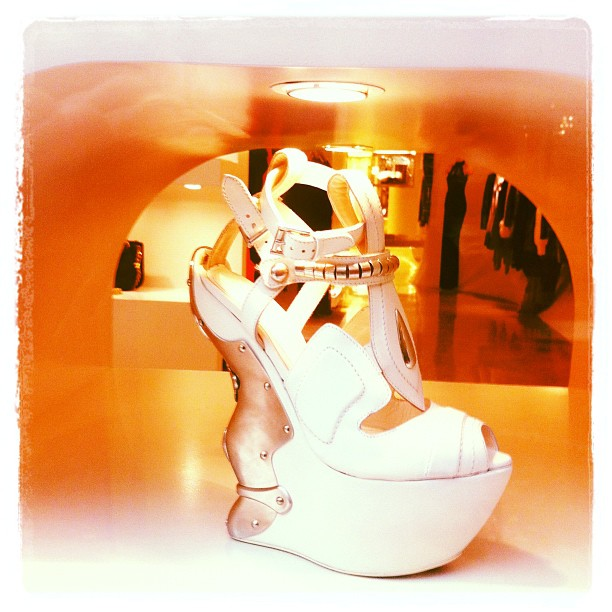 'Who Says You Can't Wear White After Labour Day'   by Benjamin Kwan   Shoes = Sarah Burton for Alexander McQueen