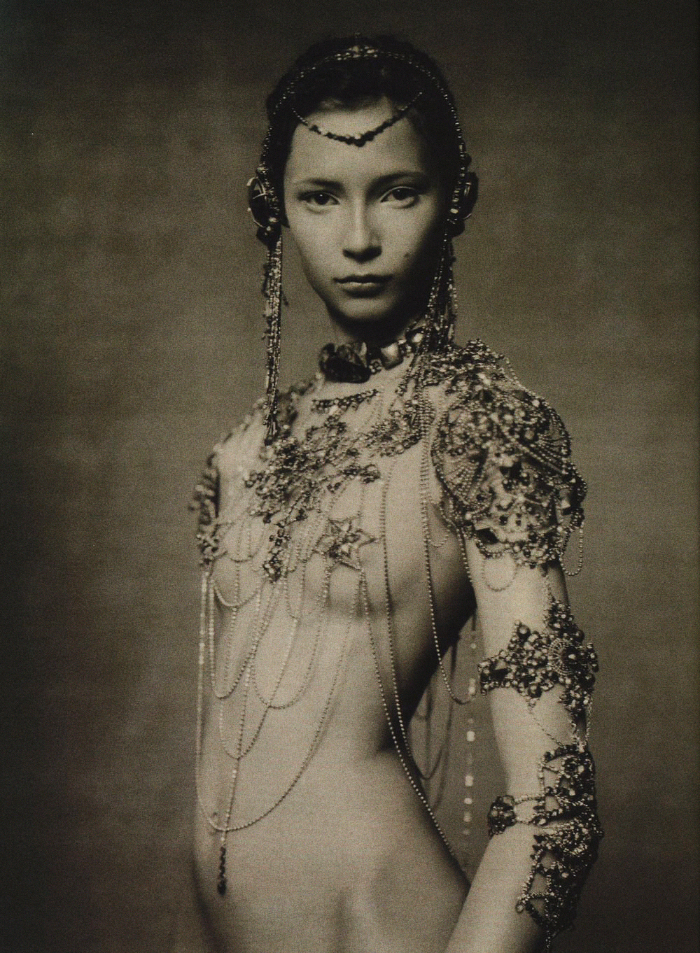 'The Poetic Spirit'   with Tiiu Kuik + Yannick d'Is + Val Garland Alice Gentilucci + Paolo Roversi + Vogue Italia   Frocks = Gaultier Paris