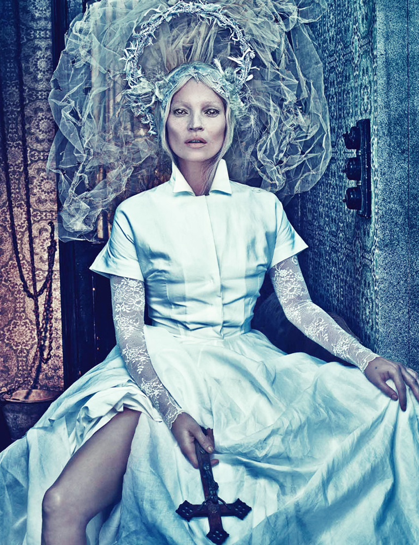 'Good Kate, Bad Kate'   with Kate Moss + Marian Newman + Jack Flanagan + Paul Hanlon + Val Garland + Edward Enninful + Steven Klein + W Magazine   Frocks = Jil Sanders + Ashley Lloyd + Cornelia James