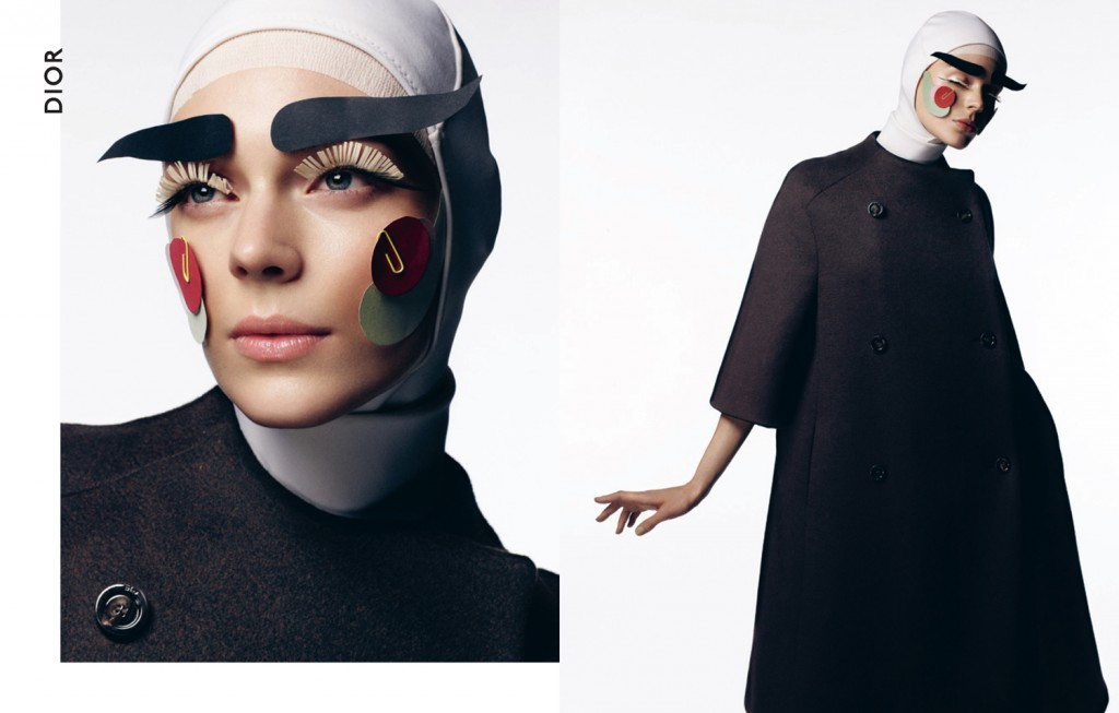 """Sartorial Saint""   with Kinga Rajzak + Ben Jones + Lisa Eldridge + Km Grenaa + Cuneyt Akeroglu + Dansk   Frocks = Dior + Designers Remix"