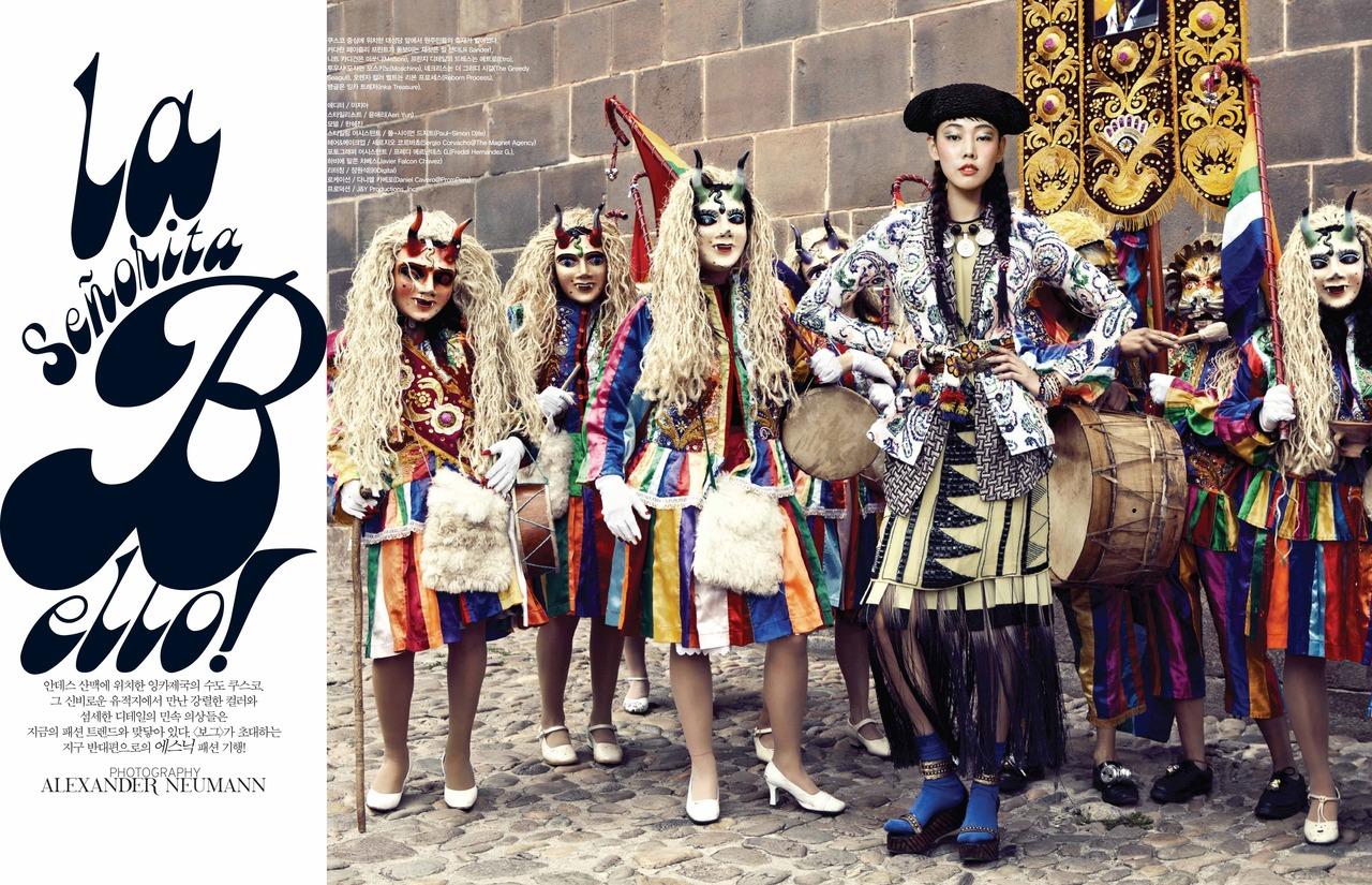"""La Senorita Bello"" with Han Hye Jin + Sergio Corvacho + Aeri Yun + Alexander Neumann + Vogue Korea Frocks = Reborn Process + The Greedy Seagull + Moschino + Jil Sander"