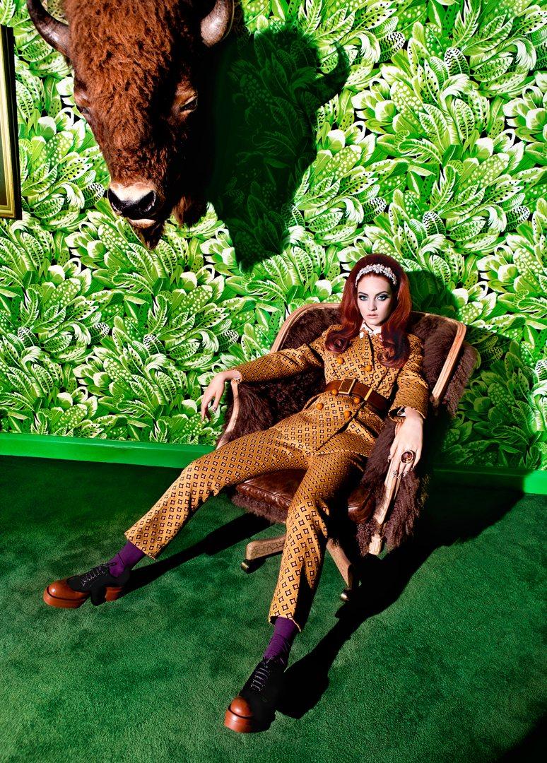 """The Fun House""   with Codie Young + Halley Brisker + Fara Homidi + Pandora Lennard + Stevie & Mada + Tank Magazine   Frocks = Prada"