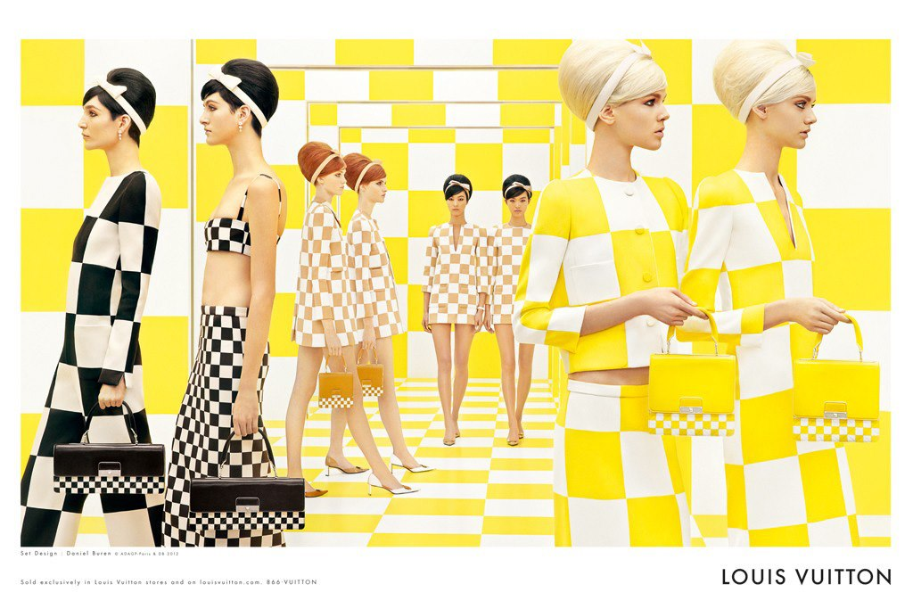 """Louis Vuitton SS 2013 Campaign""  Athena Wilson, Nastya Kusakina, Janice Alida, Magdalena Jaesk, Ruby Jean Wilson, Tian Yi, Ji Hye Park, Bria Condon and Steven Meisel Frocks = Marc Jacobs for Louis Vuitton"