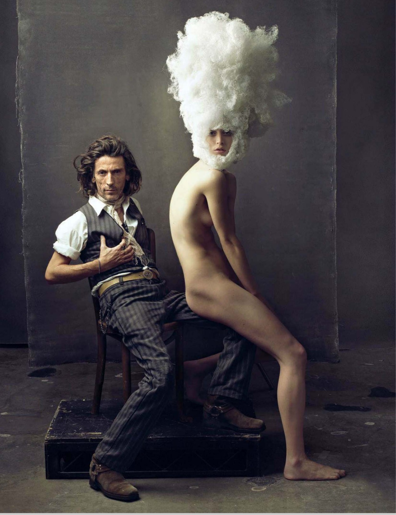 """The Nude in Vogue"" with Raquel Zimmerman + Julien d'Ys + Annie Leibovitz + Vogue Russia Special Edition"