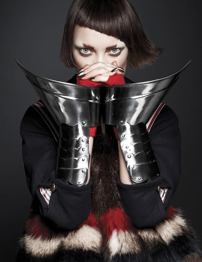 """Jeanne Dark""   with Naty Chabanenko + Lottie Stannard + Kayla Michele + Ishi + French Revue de Modes #19"