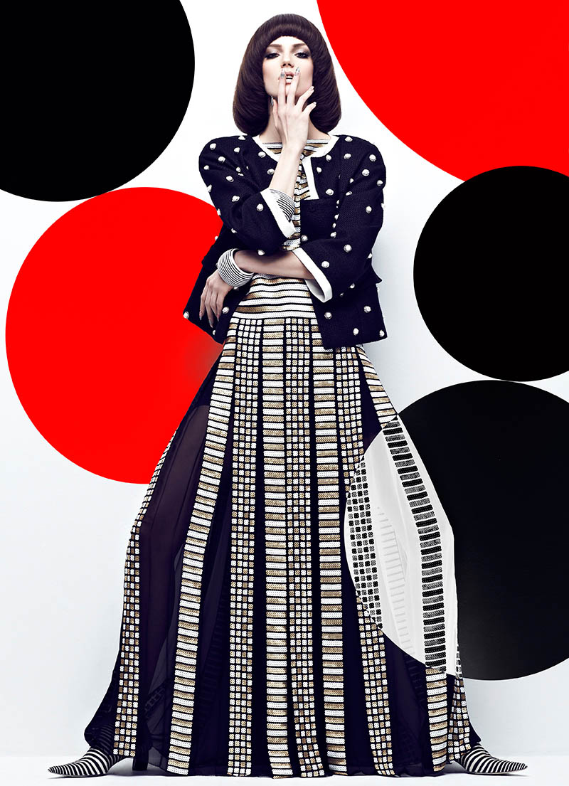 """High Contrast"" with Samantha Rayner + Greg Wencel + Zeina Esmail + Chris Nicholls + Fashion Magazine Frocks = Marc Jacobs + Karl Lagerfeld for Chanel"