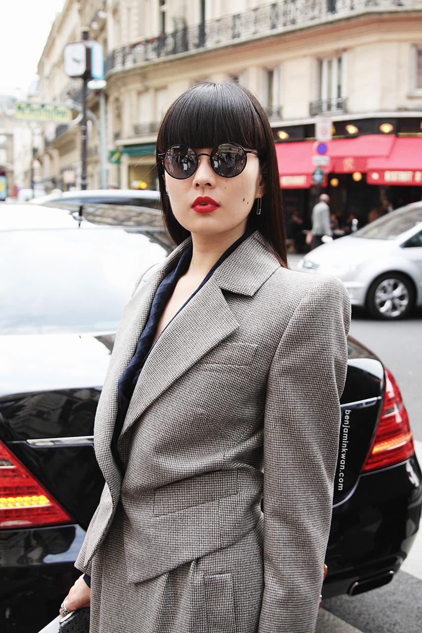 Kozue Akimoto at Vivienne Westwood SS 2014 Paris Snapped by Benjamin Kwan
