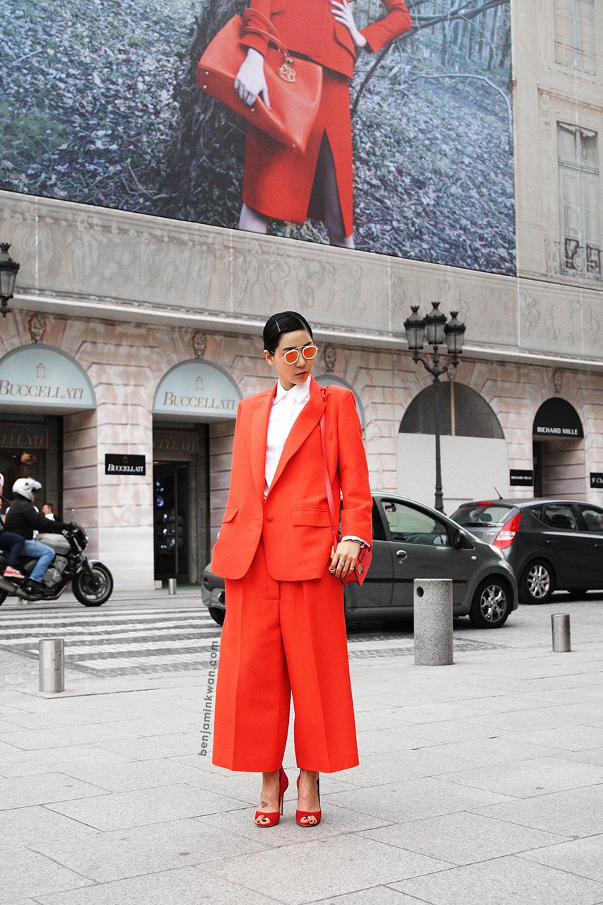 Na Young Kim at Comme des Garcons     SS 2014 Paris Snapped by Benjamin Kwan