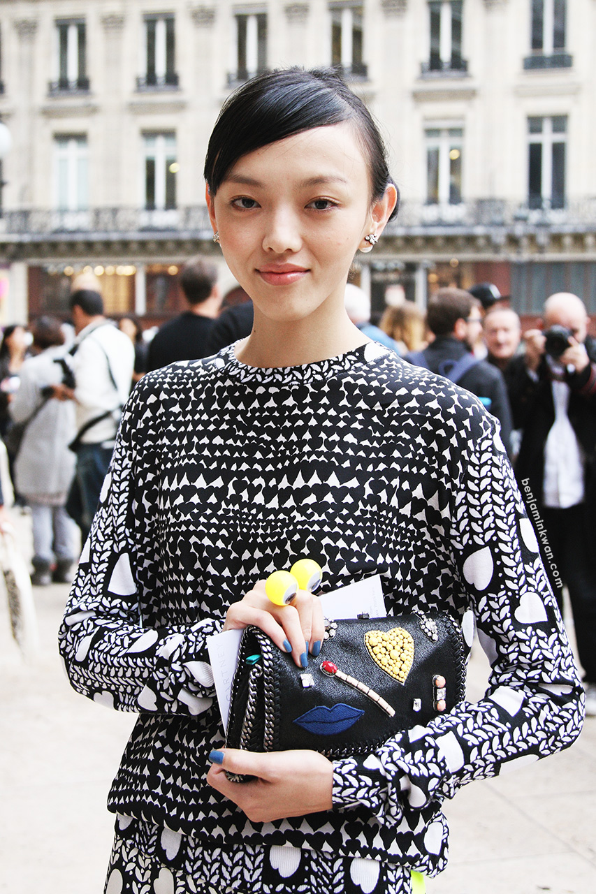 Rila Fukushima at Stella McCartney SS 2014 Paris Snapped by Benjamin Kwan