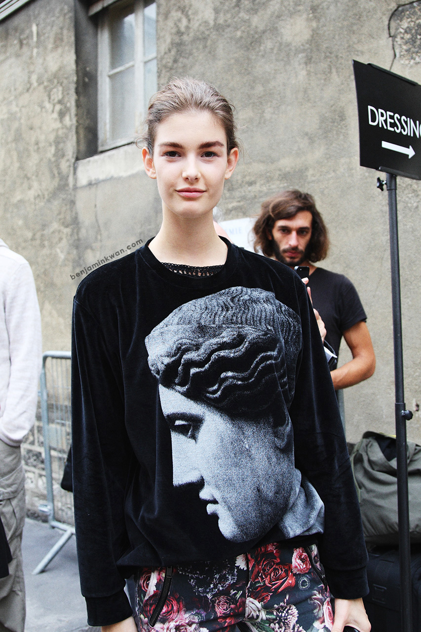 Ophelie Guillermand at Giambattista Valli     SS 2014 Paris Snapped by Benjamin Kwan