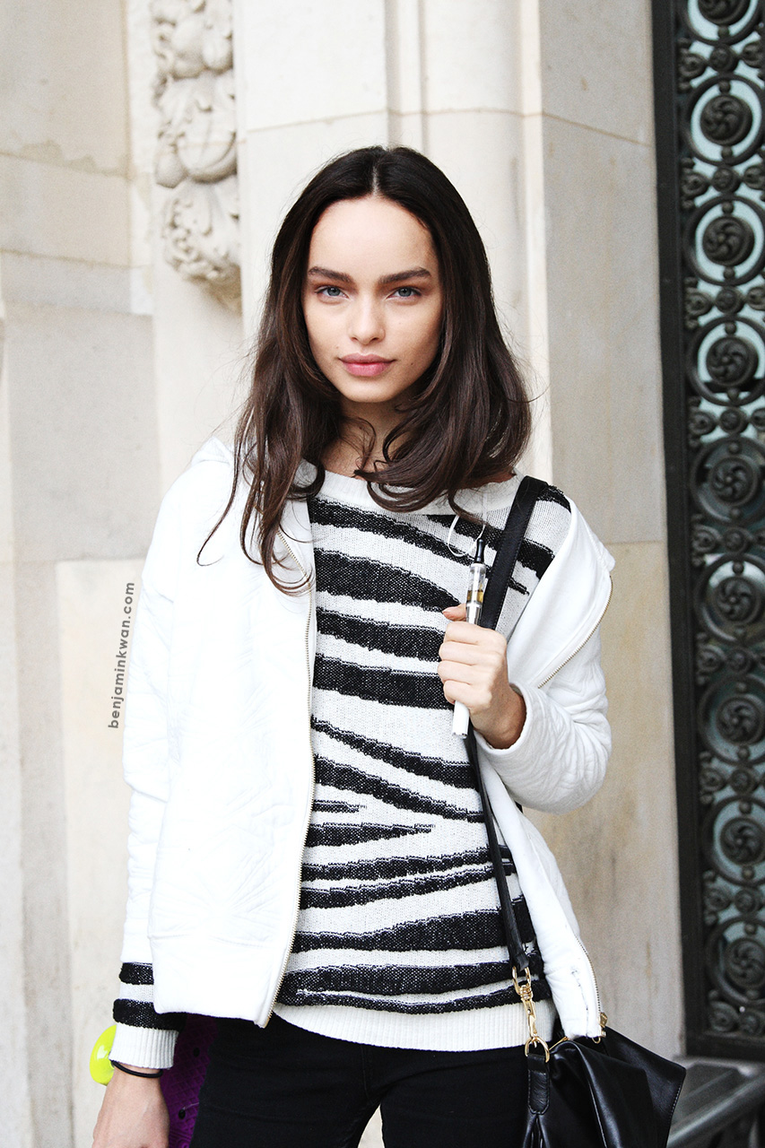 Luma Grothe at Leonard SS 2014 Paris Snapped by Benjamin Kwan