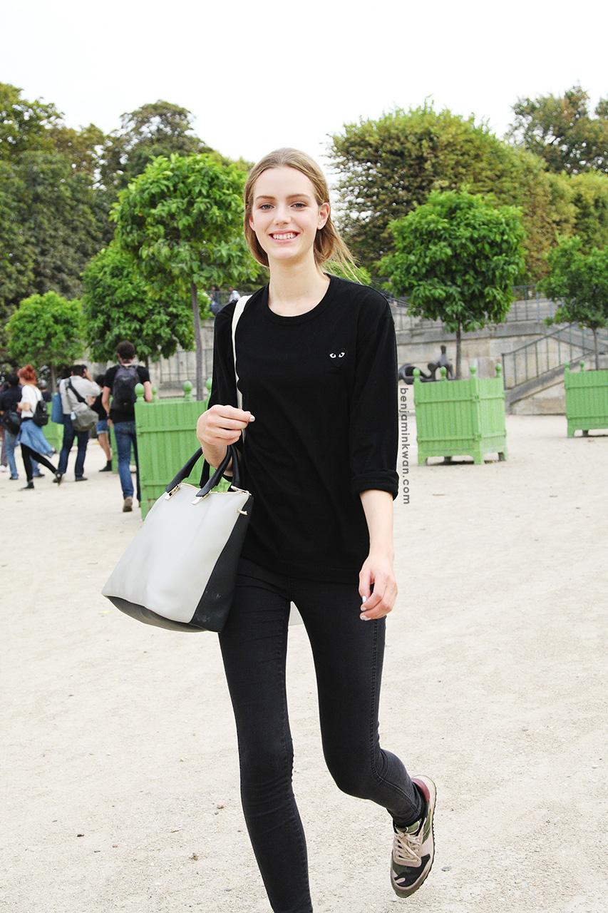 Esther Heesch at Nina Ricci     SS 2014 Paris Snapped by Benjamin Kwan