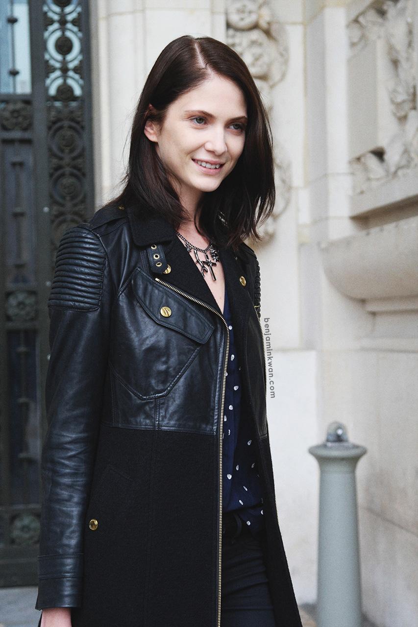 Maria Flavia Ferrari at Leonard     SS 2014 Paris Snapped by Benjamin Kwan